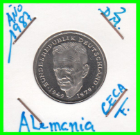 ALEMANIA -GERMANY - MONEDA DE  2.00 DM  AÑO 1987- F - KURT SCHUMACHER  S/C - [ 7] 1949-… : RFA - Rep. Fed. Alemana