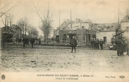 SAINT DENIS EXPLOSION 4 MARS  1916  DANS LE VOISINAGE  POMPIERS ET MATERIEL  EDITION ELD - Saint Denis