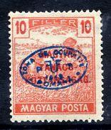 HUNGARY OCC. Of DEBRECEN 1919 Overprint On 10f With Tanacs-Köztarsasag Overprint MNH / **.  Michel 75 - Debreczen
