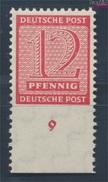 Sowjetische Zone (All.Bes.) 119B X Geprüft, Roßwein Gezähnt L 11 1/4 Postfrisch 1945 Ziffer (7596509 - Zone Soviétique