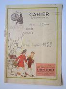Couverture Seule Cahier Les Produits Du Lion Noir Miror Argentil Metapol Liona Lion Noir Cirage-crème 1939 - Book Covers