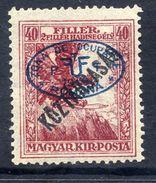 HUNGARY OCC. Of DEBRECEN 1919 Overprint On 40f War Charity With Köztarsasag Overprnt MH / *.  Michel 64 - Debreczen