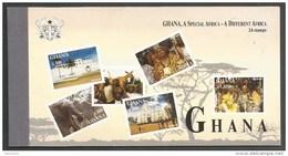 Ghana 2000 Tourism Elmina Castle Chief Elephant Bushbuck Festival Michel 3077-82 MNH Mint Prestige Stamp Booklet - Ghana (1957-...)