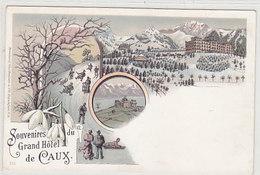 Souvenir Du Grand Hotel De Caux - Litho Hivefnale    (P-98-60123) - VD Vaud