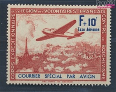 Frankreich (Dt.Bes.2.WK.) III / IV, N Oben Rechts Verkürzt (Feld 10) Postfrisch 1941 LVF (8100927 - Besetzungen 1938-45