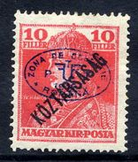 HUNGARY OCC. Of DEBRECEN 1919 Overprint On 10f Karl With Köztarsasag Overprint MH / *.  Michel 56 - Debreczen