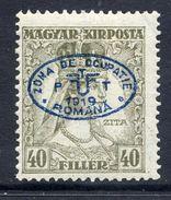 HUNGARY OCC. Of DEBRECEN 1919 Overprint On 40f Zita MH / *.  Michel 41 - Debreczen