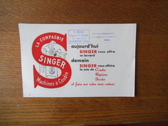 SINGER MACHINES A COUDRE O. BRASSART REPRESENTANT Cie SINGER 21 RUE D'ISLE SAINT-QUENTIN AISNE - Blotters