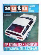 Rivista Automobilismo Auto Italiana N° 42 - 1967  Fiat Dino Pininfarina - Parigi - Livres, BD, Revues