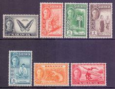 Sarawak Scott 180/186 - SG171/177, 1950 George VI Set To 10c MH* - Sarawak (...-1963)