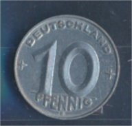 DDR Jägernr: 1507 1953 E Vorzüglich Aluminium 1953 10 Pfennig Hammer Und Zirkel Zwisch (7849358 - 10 Pfennig