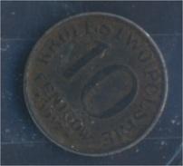 Dt. Besetzung Polen 1. WK Jägernr: B 606 1917 F Sehr Schön Eisen 1917 10 Fenigow Gekrönter Adler (7861314 - Münzen & Banknoten