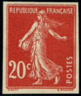 Lot N°3741 France N°139 Essai En Rouge Neuf (*) TB - Proofs