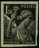 Lot N°3769 France N°435 Essai Non Dentelé En Noir Neuf (*) TB - Proofs