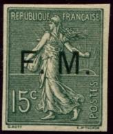 Lot N°3781 France N°3 Essai Franchise Militaire Sur Type II Non Dentelé  Neuf ** LUXE - Prove
