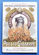 Scienza Tecnica - Catalogo Casseforti Incombustibili Poesio Giuseppe - 1901 RARO - Unclassified