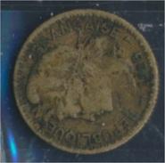 Togo 2 1925 Sehr Schön Aluminium-Bronze 1925 1 Franc Laureate (8977182 - Togo