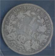 Deutsches Reich Jägernr: 9 1874 E Sehr Schön Silber 1874 1 Mark Kleiner Reichsadler (7849050 - [ 2] 1871-1918: Deutsches Kaiserreich