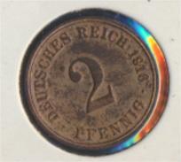 Deutsches Reich Jägernr: 11 1916 A Vorzüglich Bronze 1916 2 Pfennig Großer Reichsadler (7849270 - [ 2] 1871-1918: Deutsches Kaiserreich
