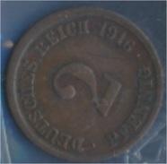 Deutsches Reich Jägernr: 11 1916 F Sehr Schön Bronze 1916 2 Pfennig Großer Reichsadler (7848967 - [ 2] 1871-1918: Deutsches Kaiserreich