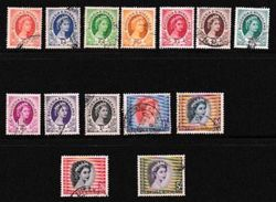 NYASSALAND, 1954, Cancelled Stamp(s), Definitive S, Mich  1=16, #nr. 500 14 Values Only - Rhodesia & Nyasaland (1954-1963)