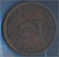 Deutsches Reich Jägernr: 11 1916 F Sehr Schön Bronze 1916 2 Pfennig Großer Reichsadler (7848968 - [ 2] 1871-1918: Deutsches Kaiserreich