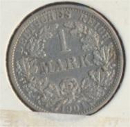 Deutsches Reich Jägernr: 17 1904 F Vorzüglich Silber 1904 1 Mark Großer Reichsadler Im Eichen (7849215 - [ 2] 1871-1918: Deutsches Kaiserreich