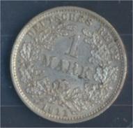 Deutsches Reich Jägernr: 17 1911 D Vorzüglich Silber 1911 1 Mark Großer Reichsadler Im Eichen (7859320 - 1 Mark