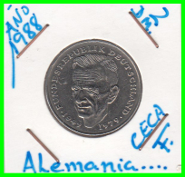 ALEMANIA -GERMANY - MONEDA DE  2.00 DM  AÑO 1988-F - KURT SCHUMACHER - [ 7] 1949-… : RFA - Rep. Fed. Alemana