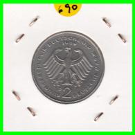 ALEMANIA -GERMANY - MONEDA DE  2.00 DM  AÑO 1989- D - KURT SCHUMACHER - [ 7] 1949-… : RFA - Rep. Fed. Alemana
