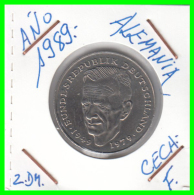 ALEMANIA -GERMANY - MONEDA DE  2.00 DM  AÑO 1989 F KURT SCHUMACHER - [ 7] 1949-… : RFA - Rep. Fed. Alemana