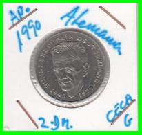 ALEMANIA -GERMANY - MONEDA DE  2.00 DM  AÑO 1990 -G   KURT SCHUMACHER - [ 7] 1949-… : RFA - Rep. Fed. Alemana