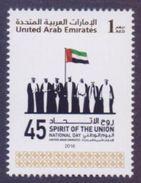 UAE United Arab Emirates 2016 MNH - 45th National Day, Sprit Of The Union, Flags, 1v - Verenigde Arabische Emiraten