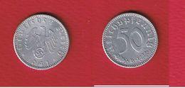 Allemagne -- 50 Reichspfennig 1941D  --  état  SUP -- Km # 96  - - [ 4] 1933-1945 : Third Reich