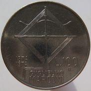 Italy 100 Lire 1974 Marconi - Commemorative