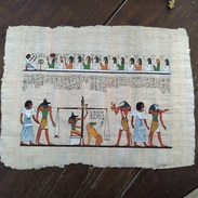 Beau Papyrus égyptien. Egypte. Balance. - Art Africain