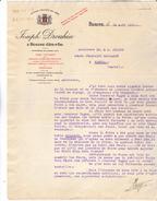 21 Beaune - Joseph Drouhin Proprietaire Clos Vougeot. Lettre Ciale Illustrée De 1936. Tb état. - 1900 – 1949