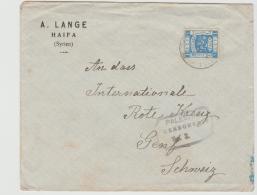 Pal041a / PALÄSTINA -  Brit. Feldpost Entwertung Via Port Said Zum Roten Kreuz In Gend, P.o.W. Post 1918 - Palästina