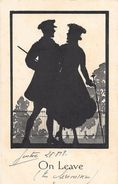 ON LEAVE - SILHOUETTE D'un COUPLE, Ombres Chinoises - 1918  J.W.FAULKNER - LONDON -  SERIES  1616 - Silhouettes
