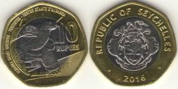 Seychelles. 10 Rupees. Turtle. Bimetal. UNC. 2016 - Seychelles