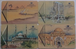 Set Of 4 Hotel Key Cards Semiramis Intercontinental Cairo, Egypt. - Cartas De Hotels