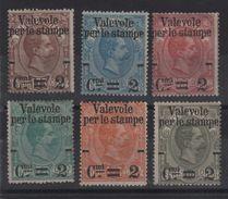 1890 Valevoli Per Le Stampe Serie Cpl MLH - Ungebraucht