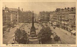 BRUXELLES - La Place De Brouckère Vue à Vol D'oiseau - Places, Squares