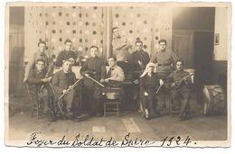 Carte-Photo SPIRE, Allemagne - FOYER Du SOLDAT De SPIRE 1924 - Orchestre Symphonique, Melle DEVENOGE - MILITARIA - Speyer