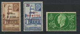 COTE FRANCAISE DES SOMALIS     N°  Y&T  251 à 253  * - Ungebraucht