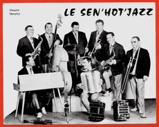"""CPM CPSM Publicitaire Groupe Musical """"LE SEN'HOT'JAZZ"""" 28 LUCE Directeur Roger Dellac * Musique Orchestre Musiciens - Music And Musicians"""