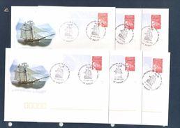 1ers Jours Brest 2004 - Les 6 Enveloppes Du 10 Au 15 Juillet 2004 - France
