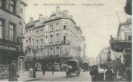 106. - BRUXELLES - IXELLES : Chaussée D'Ixelles - TRES RARE CPA - Cachet De La Poste 1911 - Elsene - Ixelles