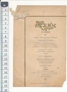 MENU - Diner 1897 - Artannes, Indre Et Loire - Menus