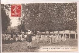 Cpa 37 Colonie De Mettray La Fête Du 14 Juillet - Mettray